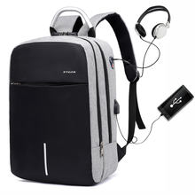 Business travel Nylon waterproof anti-theft laptop backpack bag with USB Charging Port