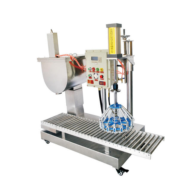 High Efficiency Barrel capping filling machine and paint bucket capper