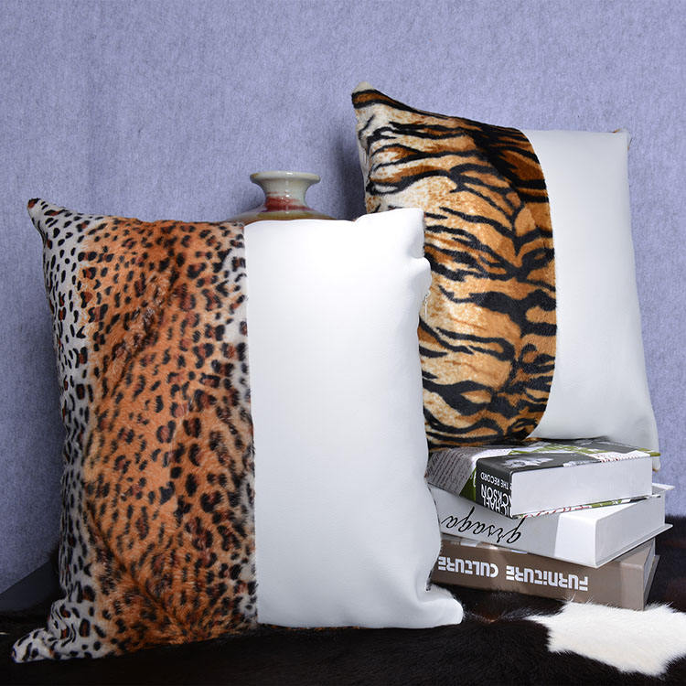 Faux fur 100% polyester wholesale decorative fashion cushion suede in stock
