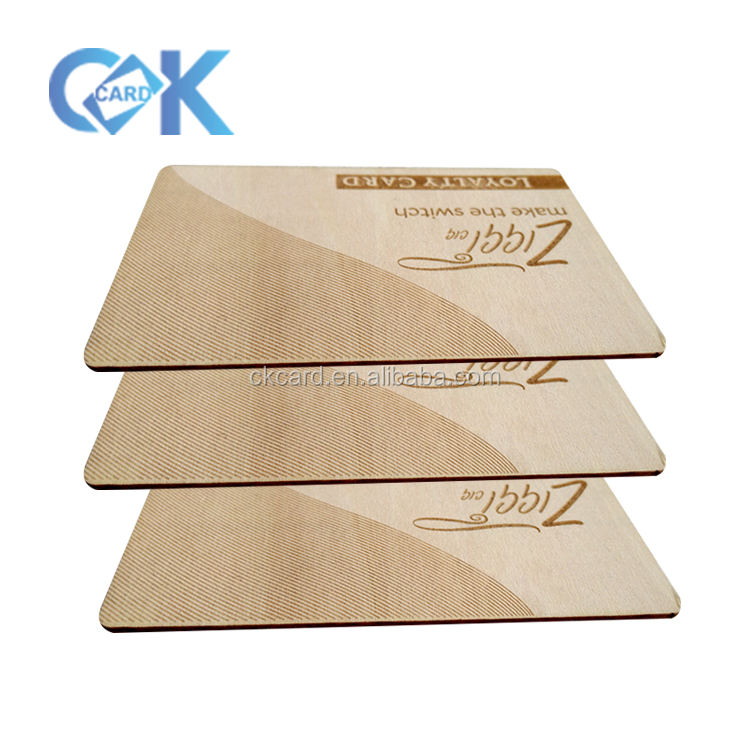 Wholesale wood carving business cards printed on wood