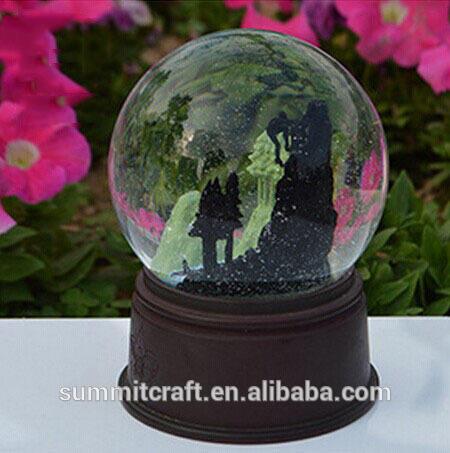 Antique en plastique noir château italie souvenirs globes de neige