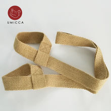 UMICCA Eco Friendly Hemp Jute yoga strap custom with logo Anti-breaking non slip yoga mat carrying strap shanghai yoga mat