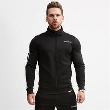 2018 Men Casual Hoodies Fitness Brand Clothing Camisetas Tracksuits Men Bodybuilding Sweatshirt Muscle Hooded Jackets