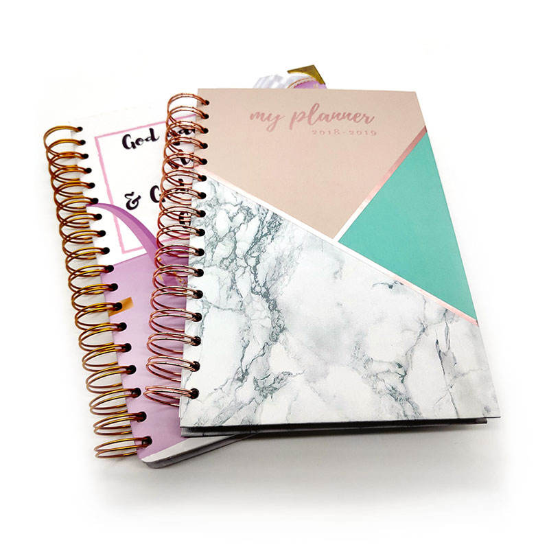 2020 2021 Custom Printing Spiral Bound Daily Goal Planner