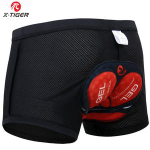 X-Tiger Women Cycling Underwear Men 3D Padded Shockproof Mountain MTB Bicycle Shorts Riding Bike Sport Underwear Tights Shorts