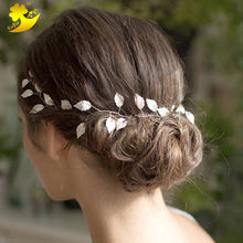 Wholesale wedding accessory fancy hairbands feather headdress tiara