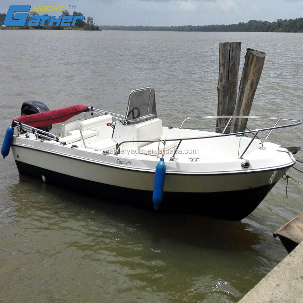 Gather factory China hot sale 5m fishing boat fiberglass boat for sale