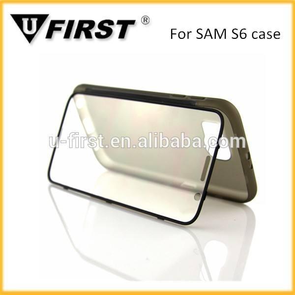 투명 플립 케이스 삼성의 6, tpu 이동 전화 커버 삼성 S6