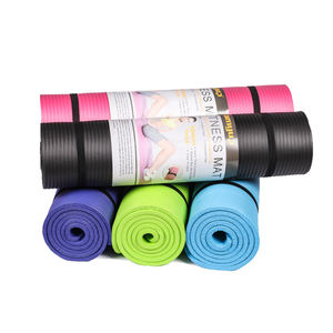 Eco friendly pilates NBR natural outdoor kids anti slip gym rubber exercise fitness yoga mat with bag