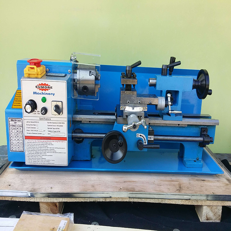Variable speed light weight mini turning lathe machine SP2102