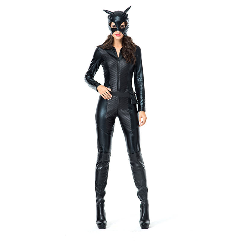 Forplay black catwoman jumpsuit masked costume