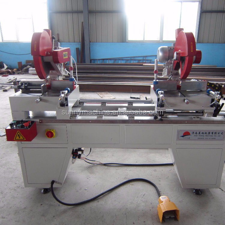 upvc and aluminum Double Miter Cutting Machine