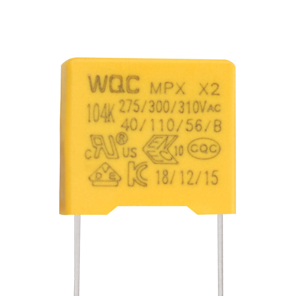 Free Sample Pitch Size 7.5mm 310v X2 104K Polyester Film Capacitor mkp 0.1uf 275vac Polypropylene 100nf mpx x2 Capacitor 104