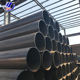 ERW straight welded seam carbon steel black round welded pipes