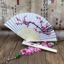 [I AM YOUR FANS] Ready to Ship Chinese Traditional Style Silk Hand Fans With Plum Blossom Factory Price