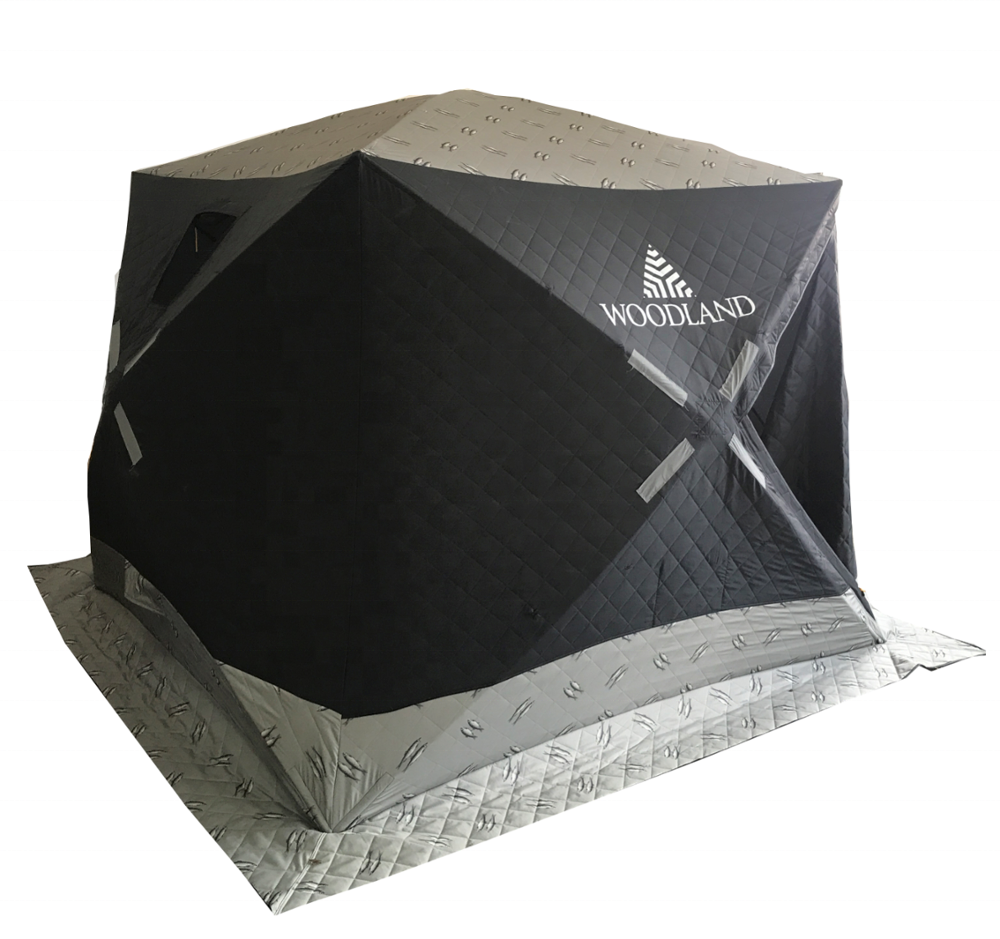 quickset Fatfish pop up portable Triple-Layer Sewn-and-quilted carp ice fishing Tent