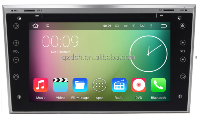 Android 6.0 octa core 2g + 32g lettore dvd dell'automobile per OPEL ASTRA Antara Vectra Tigra ZAFIR Combo full touch screen WS-7686