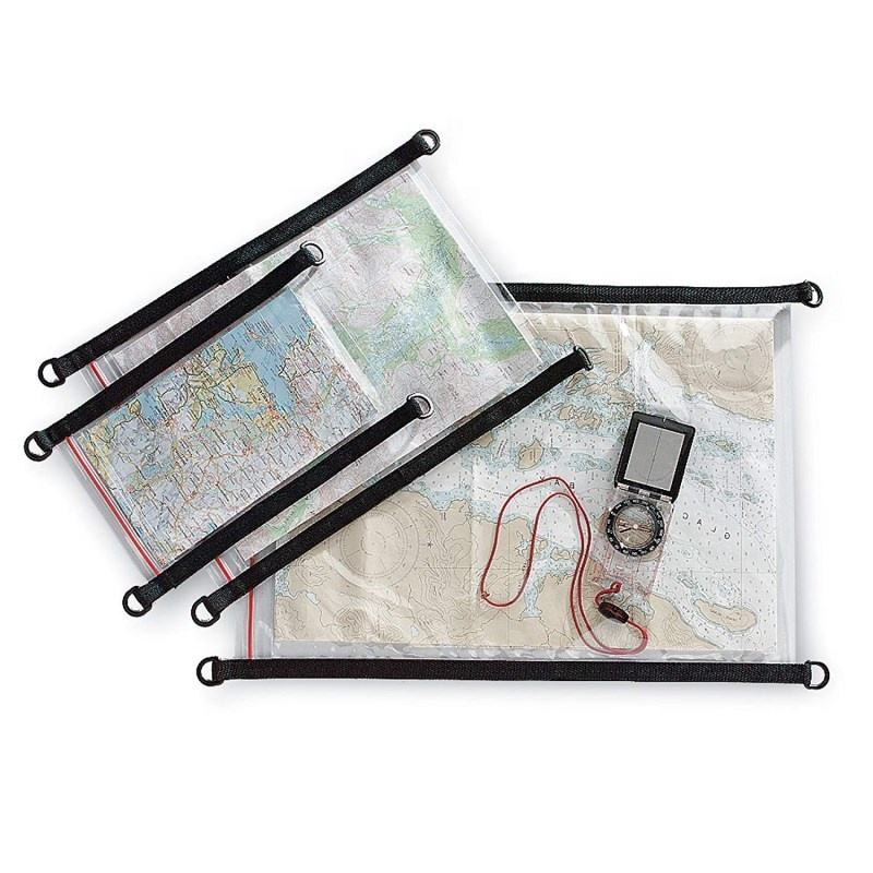 Explorer Clear PVC Waterproof Camping Hiking Map Cover Case Holder Bag Pouch