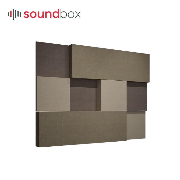 Promotion factory price base material grade A thickness 60 mm acoustic treatment sound board, acoustic panel for movie theater