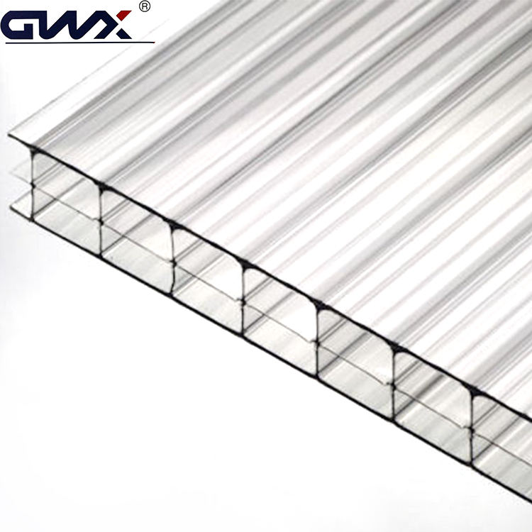 6mm Triple Wall Multi Wall Greenhouse Roof Panels Polycarbonate Panels for Greenhouse Glass