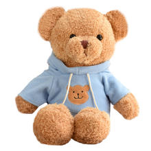Manufacturer popular gifts creative animal OEM soft mouse plush stuffed toy clothing teddy bear with high quality children