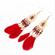 Best seller Wholesale for Women Fashion Natural Peacock Feather Bead Earrings