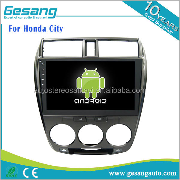 2 din android 6.0 car audio stereo big screen car dvd player for Honda City with GPS BT DVR DVD IPOD 3G WIFI TV tuner