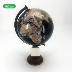 New Fashion Premium Gift Wooden Base World Mova Globe map