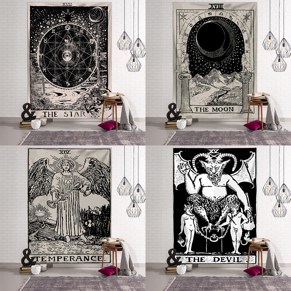 Free sample wholesale tarot wall hanging bohemian tapestry