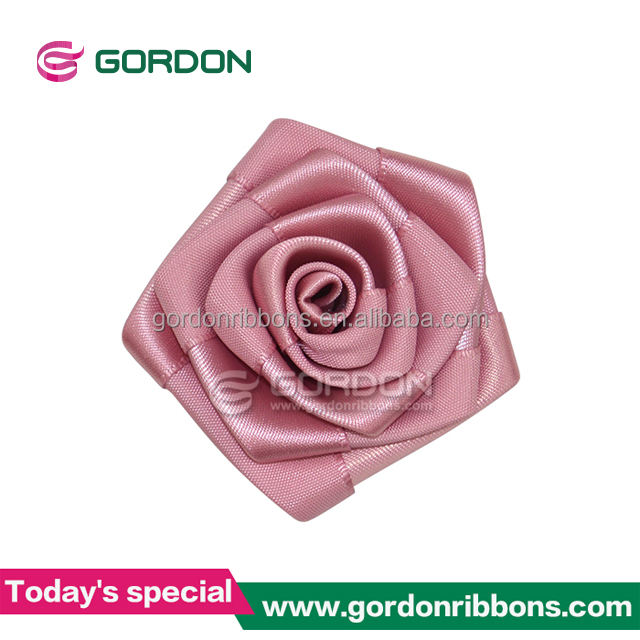 Đầy màu sắc handmade mini satin ribbon rose flowers