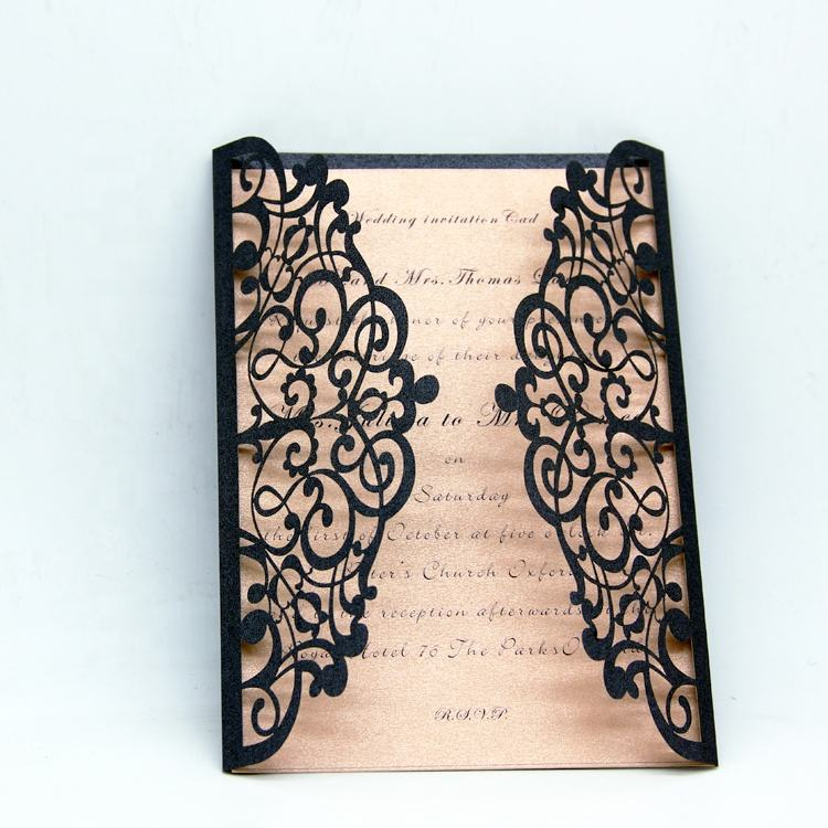 BEST SELLER wedding invitation suite gold laser cut invite wedding invitation