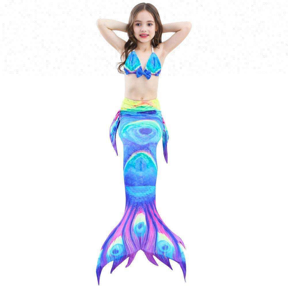 Children's fantasy mermaid tail swimsuit