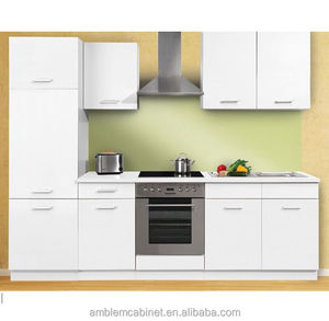 Kitchen Cabinets with Matt lacquer finished flat panel