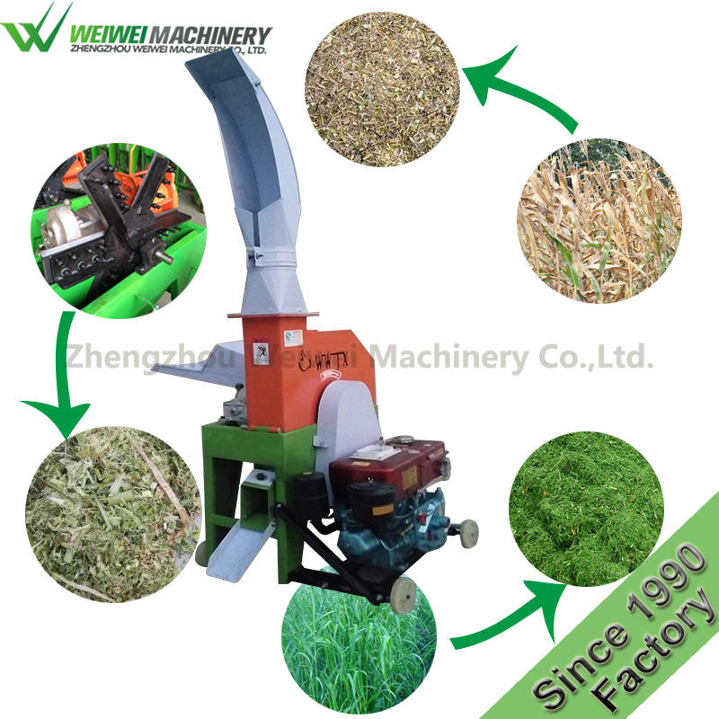 Weiwei silage making small poultry cattle chicken feed pellet machine