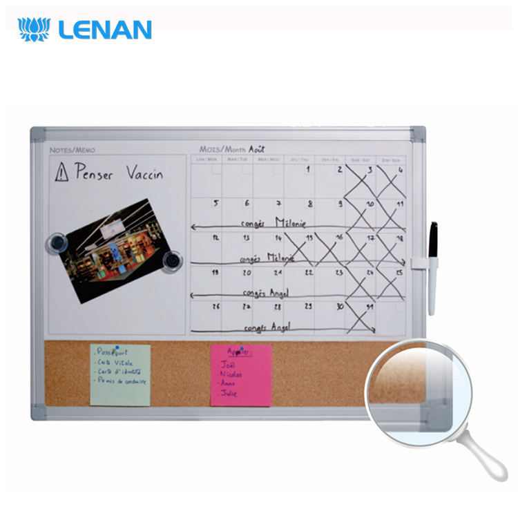 Office wall mounted yearly planner magnetic dry erase writing white board