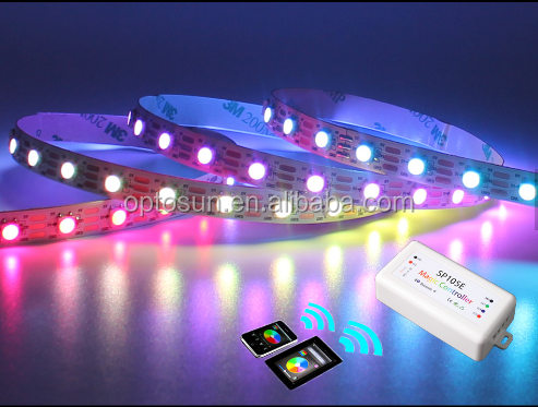 Nieuwste RGBW 5050 chips Bluetooth controle adresseerbare led strip licht waterdicht smd5050 bluetooth 4.0 enabled led flexibele strip