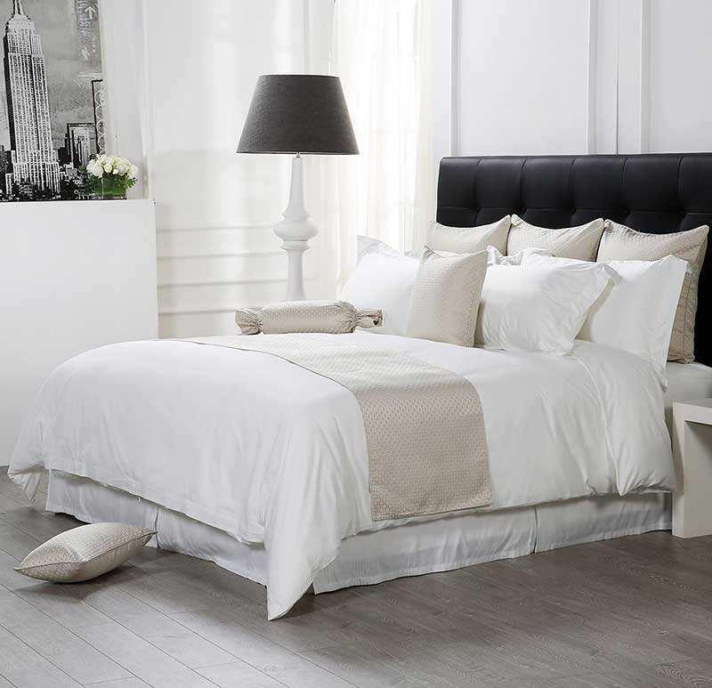 Индивидуальный заказ вышитые отель вид размер 300Tc постельных принадлежностей 100% хлопок простыни