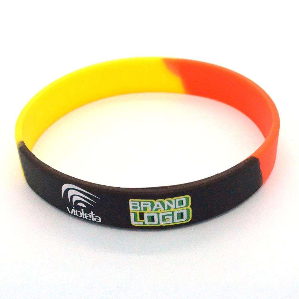 Custom Your Own Logo Fashion Rubber Silicone Bracelets Men