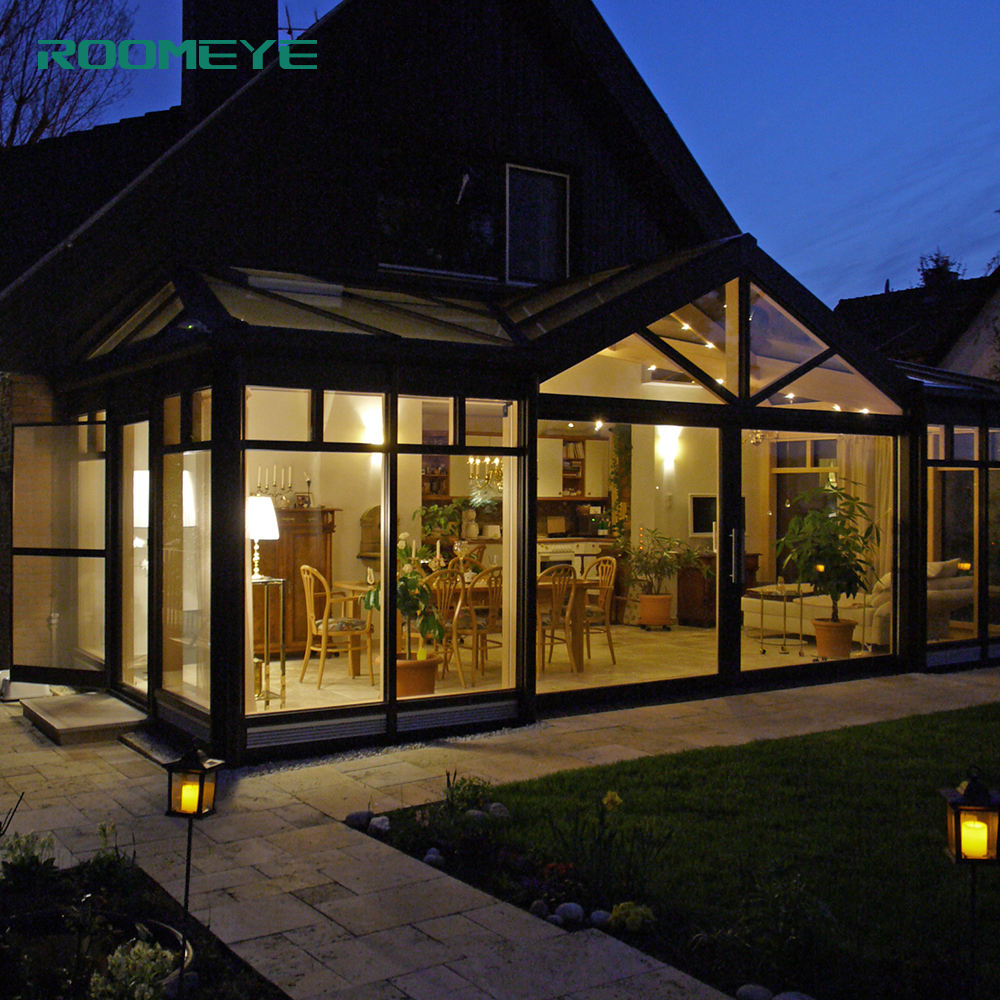 ROOMEYE Aluminium Glass House Sunroom Glass winter garden