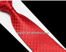 Fashion red strip cheap woven slim ties for men design
