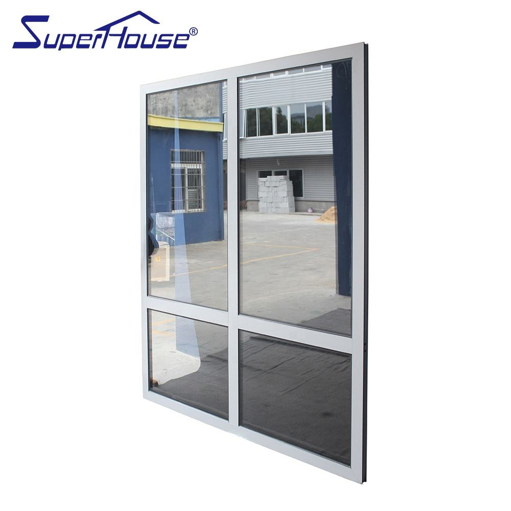 EU standard commercial system large size aluminum fixed window with double glass