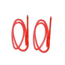 High quality eco-friendly semitransparent plastic disposable mini water smoking hookah pipe shisha hose for sale