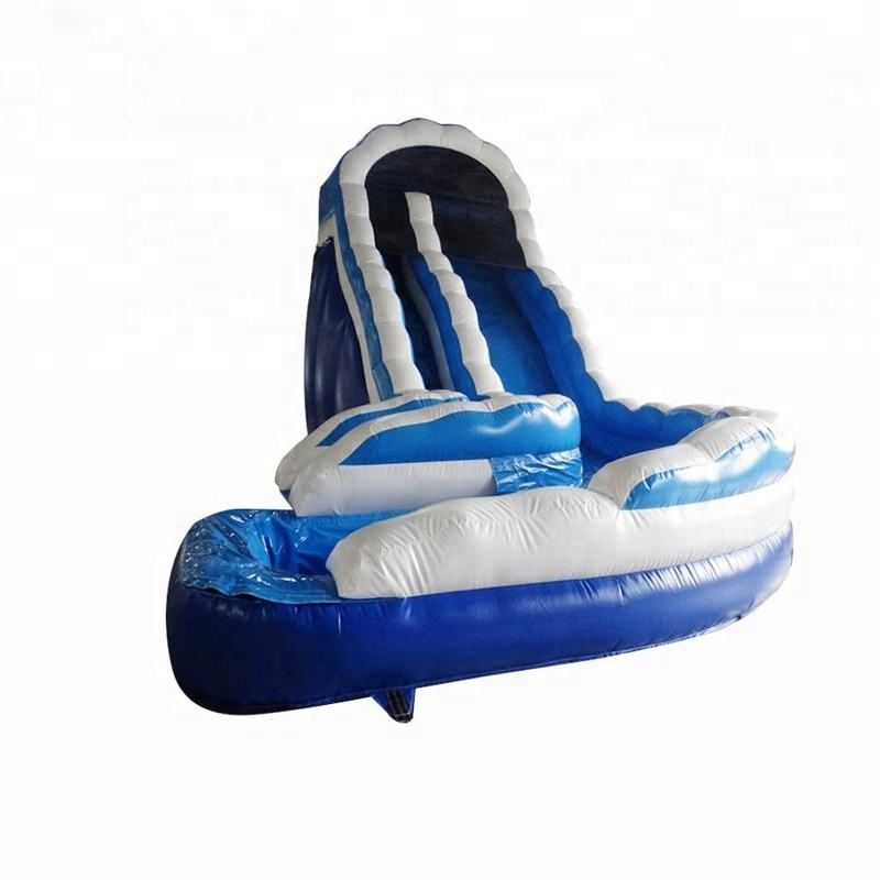 Hot Sale Snow White Double Curved Inflatable Water Slide For Adults