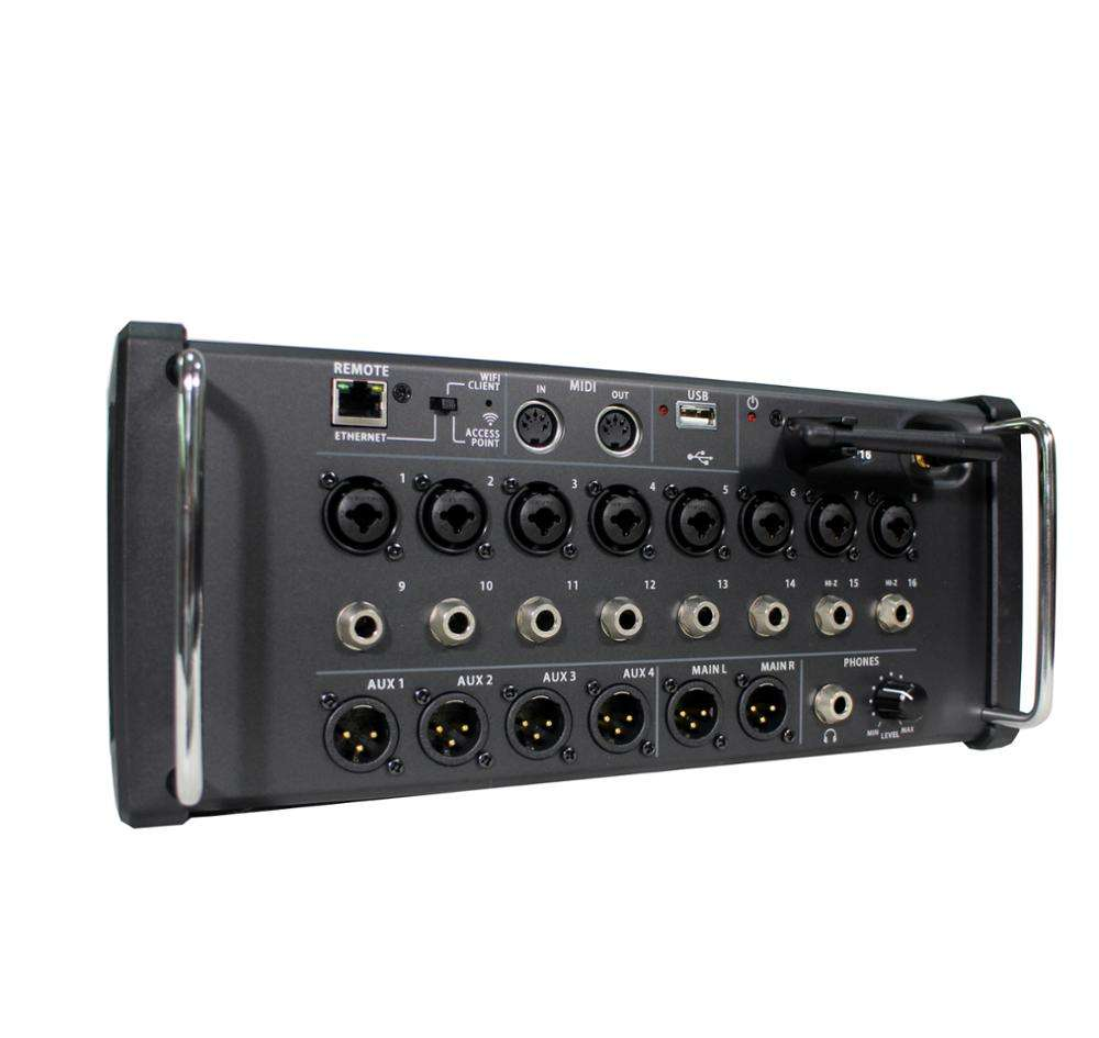 16 channels pro sound digital audio mixer console system SP 16 on MAC and window and IPAD with MIDA from China factory