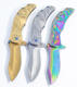 New special portable folding knife pocket dragon pattern colorful titanium knives