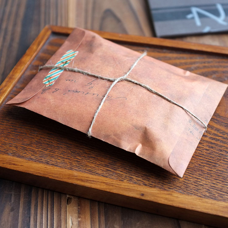Chinese manufacture big size brown vintage printing envelope packing scarf envelope without string