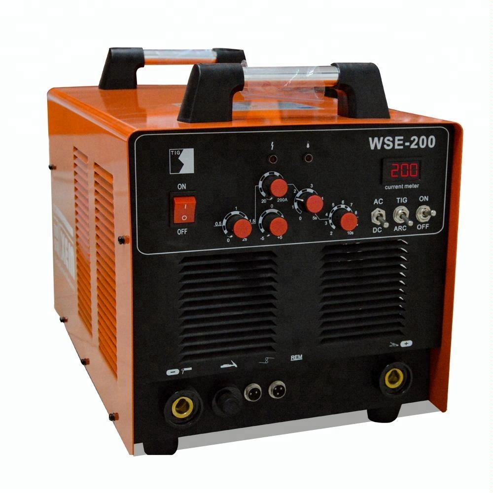 WSE-200 cheap tig welder ac dc pulse 200 electric inverter welding in argon for aluminum sale
