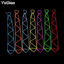 10 Colors Fashion party light tie,el wire tie for DJ dance party supplies, LED Neck tie For Wedding DJ Party Decoration