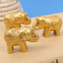 Lucky golden elephant place card holder wedding table decoration