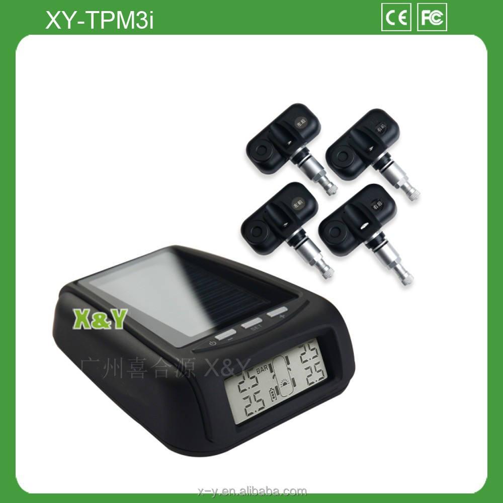 Energia solare tpms, vendita calda di ricarica solare sistema di monitoraggio della pressione dei pneumatici xy-tpm3i